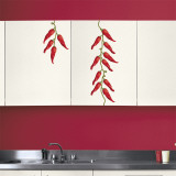 Red Peppers (Water Resistant Decal) Adhésif mural
