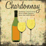 Chardonnay Print by Louise Carey