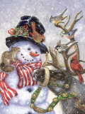 Frosty, Prance And Friends Art by Donna Race