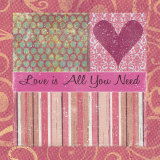 Love Is All You Need Prints by Louise Carey