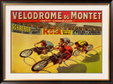 Velodrome du Mont Print by Marcellin Auzolle