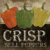 Crisp Bell Peppers Poster by Jennifer Pugh