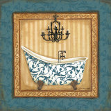Blue Slipper Bath I Posters by Jo Moulton