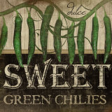 Sweet Green Chilies Print by Jennifer Pugh