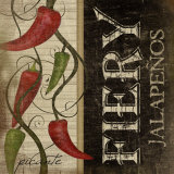 Fiery Jalapenos Art by Jennifer Pugh