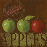 Fresh Apple Poster by Kathy Middlebrook