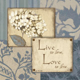 Live Love Print by Jo Moulton
