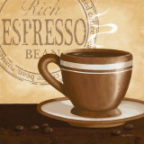 Rich Espresso Print by Kathy Middlebrook