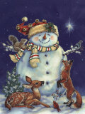Jolly Snowman Affiches par Donna Race