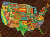 Map Art by Louise Carey