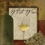 Vin blanc Poster par Jennifer Pugh