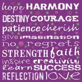 Words I Poster par Louise Carey