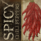 Spicy Chili Peppers Posters by Jennifer Pugh