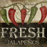 Fresh Jalapenos Print by Jennifer Pugh