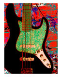 Jazz Bass Guitar Photographic Print by Robert Pursley