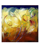 Abstract Flowers Giclee Print by Mario Zampedroni