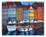 Colours Of Nyhavn Giclee Print by Lisa Lorenz
