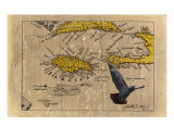 1677 Jamaica Chart Giclee Print by Johnathan White