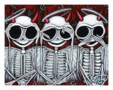 Three Wise Skellies Giclee Print by Misty Benson
