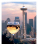 Seattle In A Glass Photographic Print by Jackie Johnston