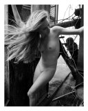 Fine Art Nude Windblown Hair Photographic Print by River Clark