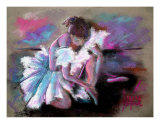 Studio Pose Cool Tones Giclee Print by Terese Dombrowski
