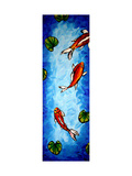 Koi Delight Giclee Print by Megan Aroon Duncanson