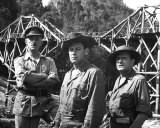 Buy Alec Guinness, William Holden and Jack Hawkins in The Bridge on the River Kwai (1957) at AllPosters.com