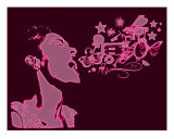 Billie Sings Photographic Print by Gem Creations