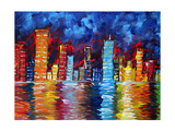 City Nights Giclee Print by Megan Aroon Duncanson
