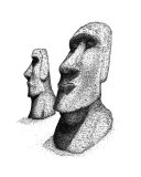 Moai Giclee Print by James Christopher III