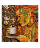 Coffee Drinker Giclee Print by Oliver Ray