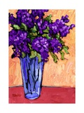 Lilacs In A Blue Glass Giclee Print by Patty Baker