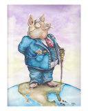 Corporate Pig Giclee Print by Lander Meek