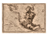 World Treasures Carribbean Old Pirate Map Giclee Print by Allyson Ricketts