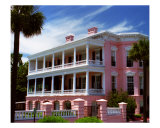 Pink House On East Battery Photographic Print by Benjamin Padgett