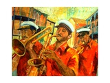Big Brass Beat In New Orleans Giclee Print by Diane Millsap