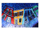 Vibrant City Light Giclée-tryk af Derek Patterson