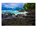 Volcanic Shoreline In Kona, Hawaii Photographic Print by Rob German