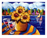 Sunflowers, Sailboats Giclee Print by Renie Britenbucher