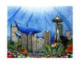 Seattle Underwater Giclee Print by Liza Phoenix
