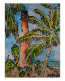 Cape Florida Port Biscayne Lighthouse Giclee Print by Derek Mccrea
