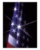 American Flag With One Bright Star Fotodruck von Tomas del Amo