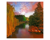 St Johns May Ball Fireworks Cambridge Photographic Print by Richard West