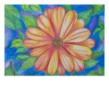 Orange Flower Giclee Print by Joanna Smith