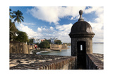 Sentry Box, Old San Juan, Puerto Rico Photographic Print by George Oze