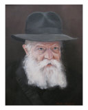 Lubavitcher Rebbe Portrait Giclee Print by Moyses Jerussalmy