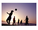 Football at Sunset Photographic Print by Alex Bramwell