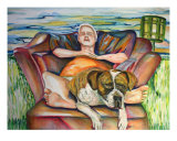 Dog Daze Of Summer Giclee Print by Joe Correll