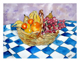 Fruit Basket Still Life Food Art Giclee Print by Derek Mccrea